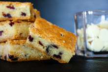Load image into Gallery viewer, Fresh Baked White Chocolate Cranberry Blondies - 15