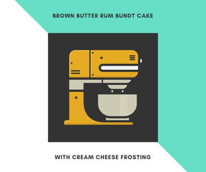 Brown Butter Rum Bundt Cake with Cream Cheese Frosting