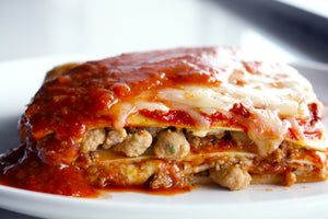 Cheesy Beef and Sausage Lasagna Dinner - Delivered Hot & Ready to Eat