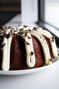 Chocolate Lover's Bundt Cake with Cream Cheese Frosting