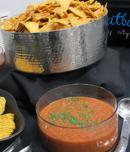 Homemade Garden Salsa with Freshly Fried Flour Tortilla Chips - SAME DAY DELIVERY Party