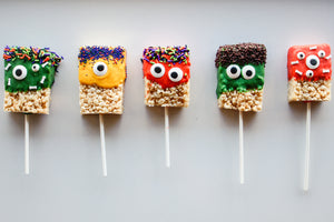 Monster Rice Krispie Pops