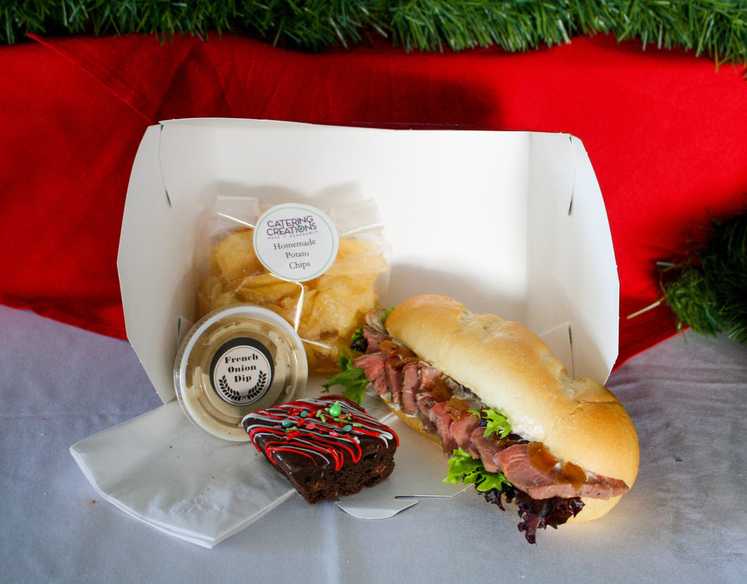 Prime Rib Hoagie Boxed Lunch (10 Boxes)