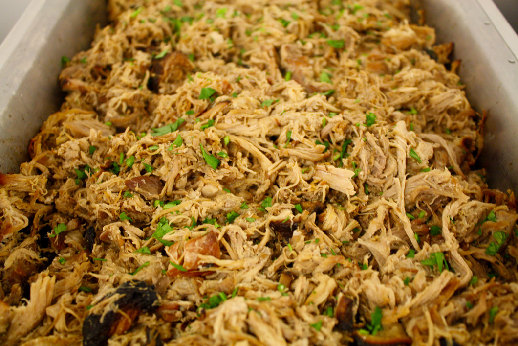 Beer Braised Pulled Pork in a Natural Au Jus - STAFF FAVORITE!