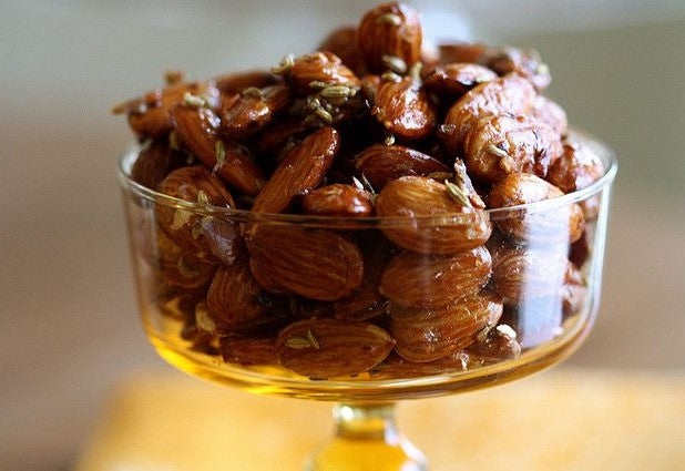 Sweet & Spicy Candied Almonds with Fennel Seeds