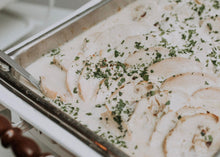 Load image into Gallery viewer, Grilled Chicken in a Roasted Garlic & Herb Cream Sauce - Delivered Hot!
