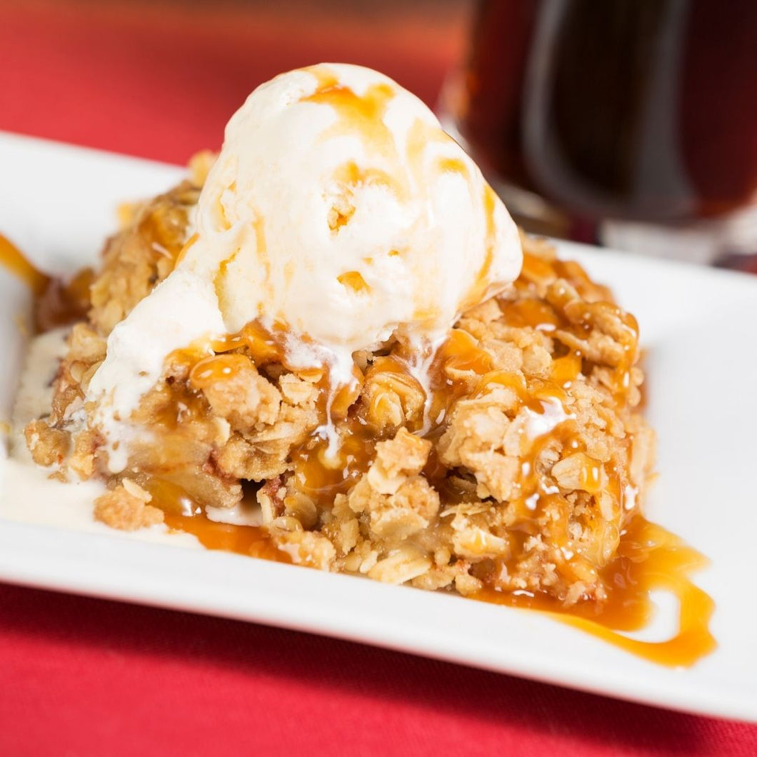 Cinnamon Caramel Apple Crisp (you supply the ice cream!)