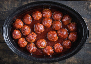 Kentucky Bourbon Pork Meatballs - THESE ARE FANTASTIC!! - 40 pieces