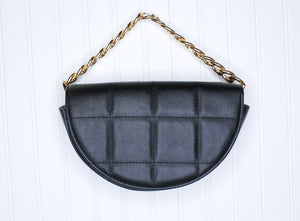 Quilted Half Circle Purse // 3 colors