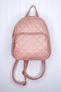 Quilted Mini Backpack // 2 colors