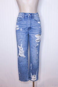 Super HR Tattered Straight Jean
