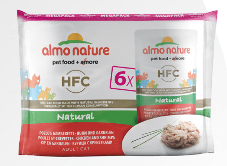 Cat Food Mega Pack - Natural - Chicken and Shrimps - Almo Nature - PetStore.ae
