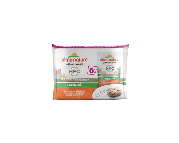 Cat Food Mega Pack - Natural - Chicken Fillet- Almo Nature - PetStore.ae