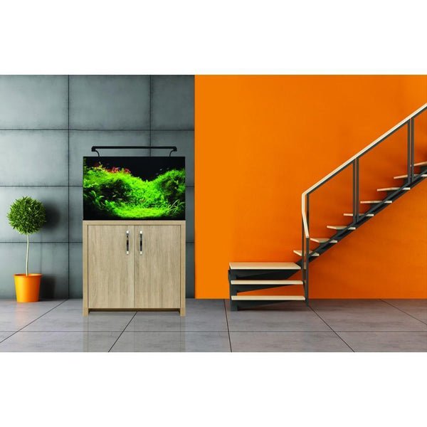 AquaNano 80 Tropical Glass Aquarium Set (80W x 40D x 47H + 75H cm) - Aqua One - PetStore.ae