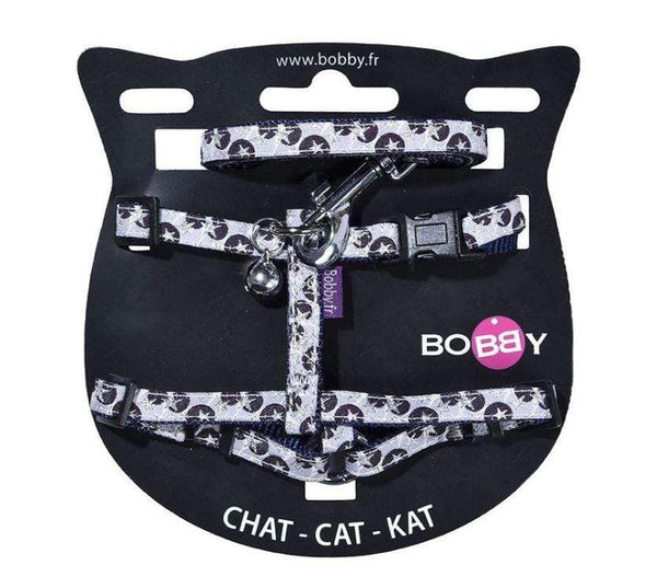 Confetti Cat Harness And Lead - Mauve - Bobby - PetStore.ae