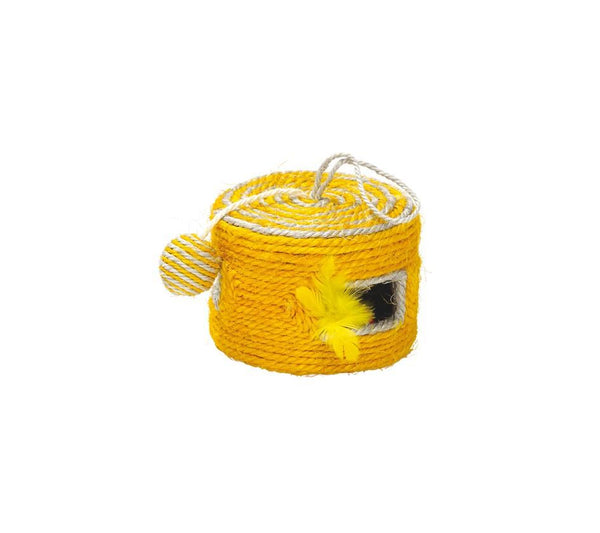 Griffoir Yeke Cat Scratching Toy - Yellow - Bobby - PetStore.ae