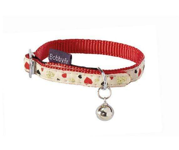 Lovely Cat Collar - Red - Bobby - PetStore.ae