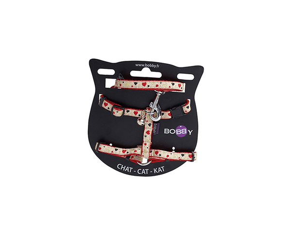 Lovely Cat Harness And Lead - Red - Bobby - PetStore.ae