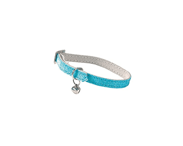 Paillete Cat Collar - Blue - Bobby - PetStore.ae