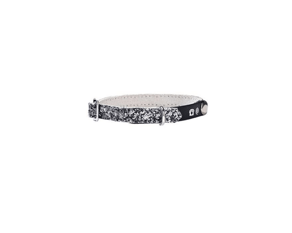 Porte Adresse Party Cat Collar - Silver - Bobby - PetStore.ae