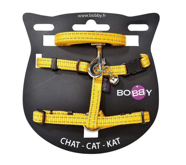 Safe Cat Harness And Lead - Yellow - Bobby - PetStore.ae