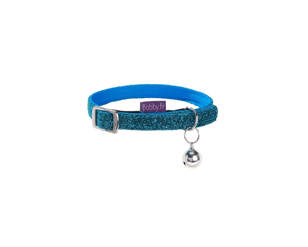 Disco Cat Collar - Blue - Bobby - PetStore.ae