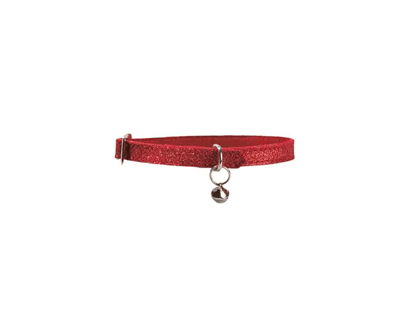 Paillete Cat Collar - Red - Bobby - PetStore.ae