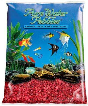 Pure Water Pebbles - Currant Red Aquarium Gravel - Nature's Ocean - PetStore.ae