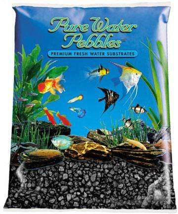 Pure Water Pebbles - Jet Black Aquarium Gravel - Nature's Ocean - PetStore.ae
