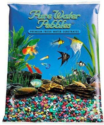 Pure Water Pebbles - Rainbow Aquarium Gravel - Nature's Ocean - PetStore.ae