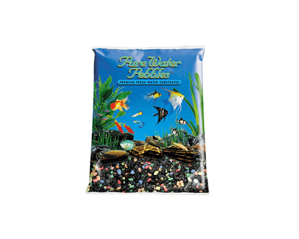 Pure Water Pebbles - Black Beauty Pebble Mix Aquarium Gravel - Nature's Ocean - PetStore.ae