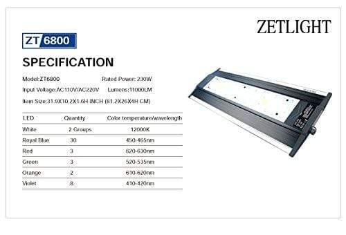 QMaven ZT6800 LED - Aquarium Light - Zetlight - PetStore.ae
