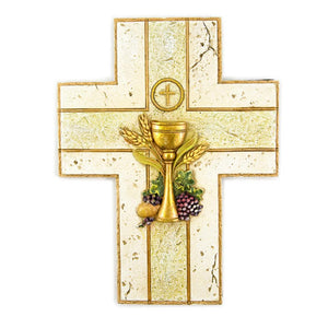 Gold Chalice Wall Cross