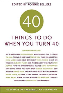 40 Things to Do When You Turn 40 Book