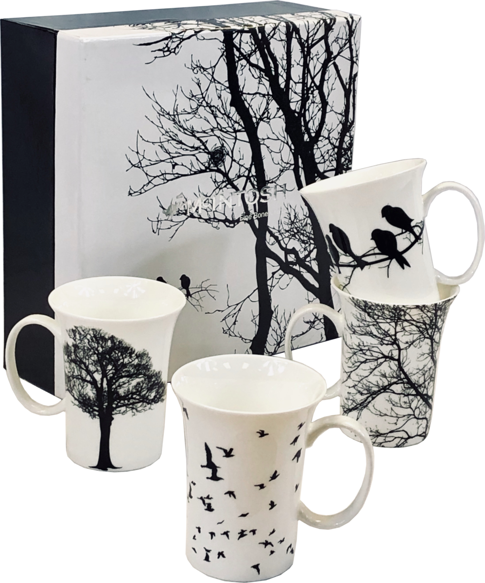Eternal Silhouette Set of Four Mugs