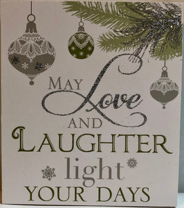 May Love and Laughter Message Block