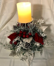 Load image into Gallery viewer, Large Christmas Centrepiece with Pillar Candle Holder