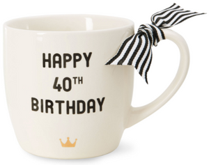 Happy 40th Milestone Birthday 12oz. Cup