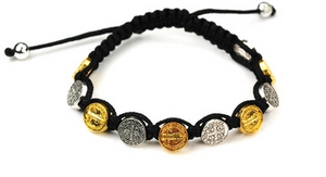 St. Benedict Gold And Silver Bracelet