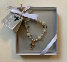 Load image into Gallery viewer, First Communion Beaded Bracelet