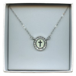 White Cross Pendant and Chain
