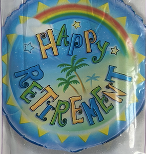Happy Retirement Beach Balloon