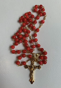 Red Confirmation Rosary