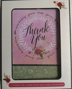 Thank You Cards With Blank Interior ( 12)