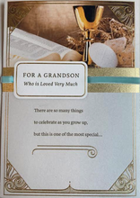 Load image into Gallery viewer, Grandson First Communion Card