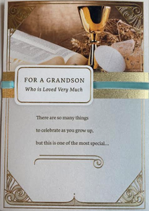 Grandson First Communion Card