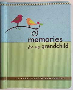 Memories For My Grandchild Keepsake Book