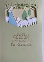 Load image into Gallery viewer, Godson First Communion Card