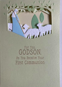 Godson First Communion Card