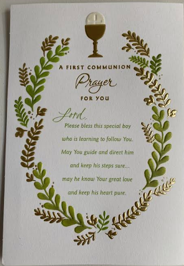 A First Communion Prayer For You